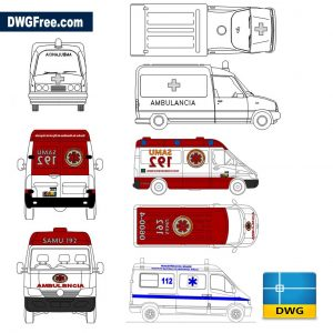 CAD Ambulance Drawing in Autocad