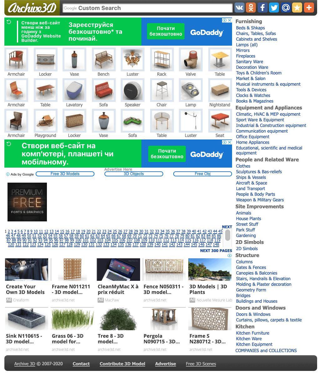 Site 3D Cad Blocks