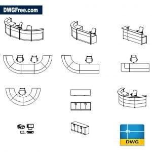 Reception Desk CAD Block Drawinds in Autocad