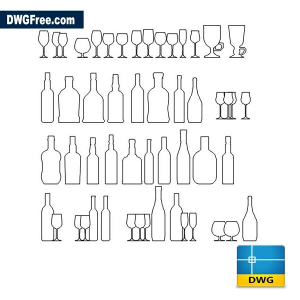 wine-bottle-cad-block-drawing-in-autocad