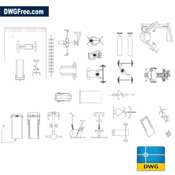 Fitness equipment Drawing DWG