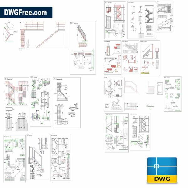 staircase detailing dwg drawings