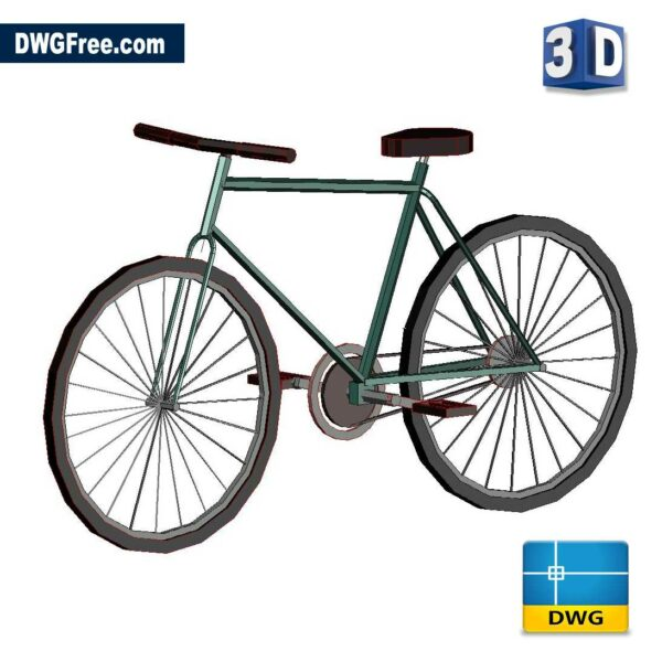 3D Bike DWG drawing in CAD