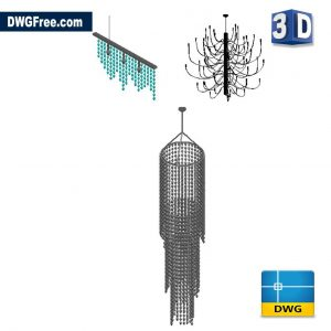 3D Glass Lamp DWG in AutoCAD