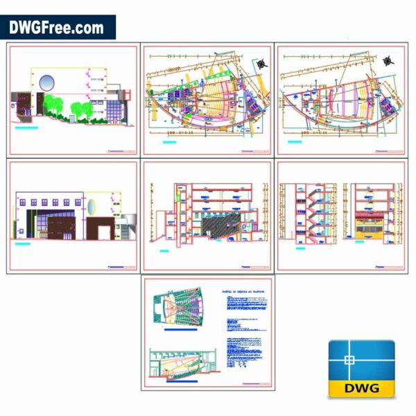 Auditorium hall Dwg drawing in Autocad
