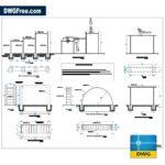 Apparatuses gymnastics dwg drawing