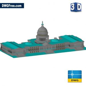 Capitol 3D DWG in AutoCAD