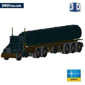Car Tank 3D DWG in AutoCAD