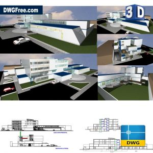 Cardiac Clinic 3D DWG in AutoCAD