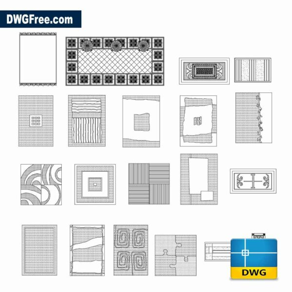 Drawing Carpets Blocks Dwg in Autocad