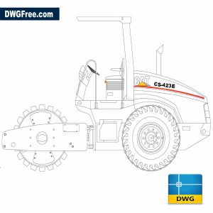 Drawing Caterpillar Tractor DWG