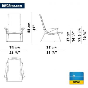 Chair J.J. DWG in AutoCAD 2D