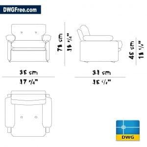Coronado Chair DWG in AutoCAD 2D