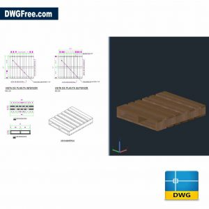 Drawing Dimensions of pallets dwg 2Dand 3D