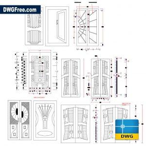 Door Elevation DWG Drawing in AutoCad