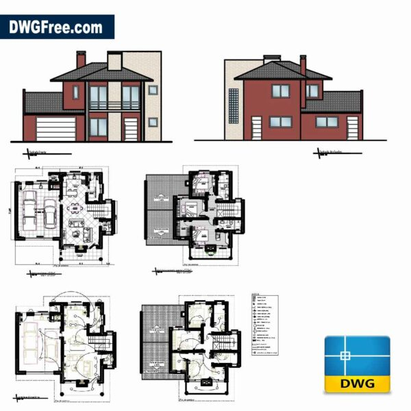 Drawings details of house layout dwg