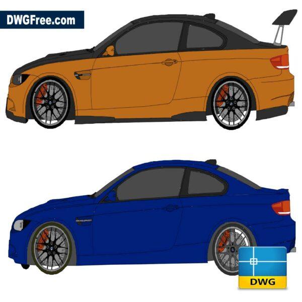 Four Wheel Car DWG in AutoCad