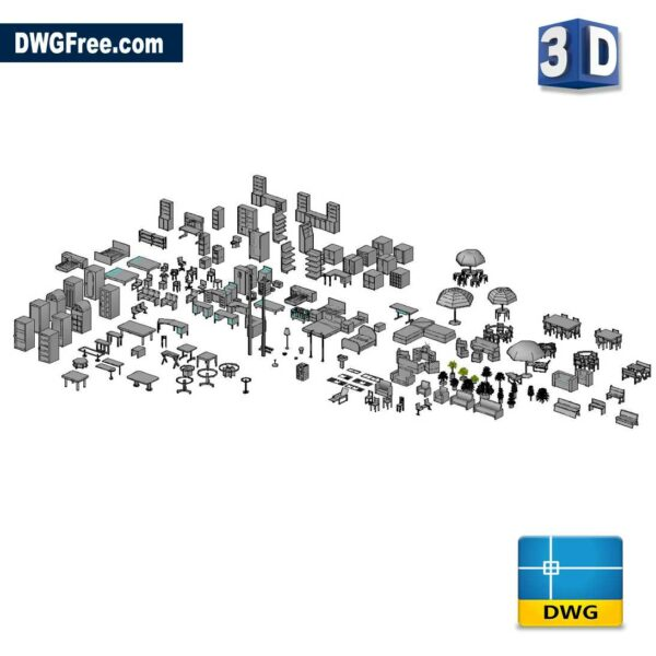 Furniture Objects in 3D