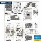 Cad blocks House 2 Floors 400 m2 Download