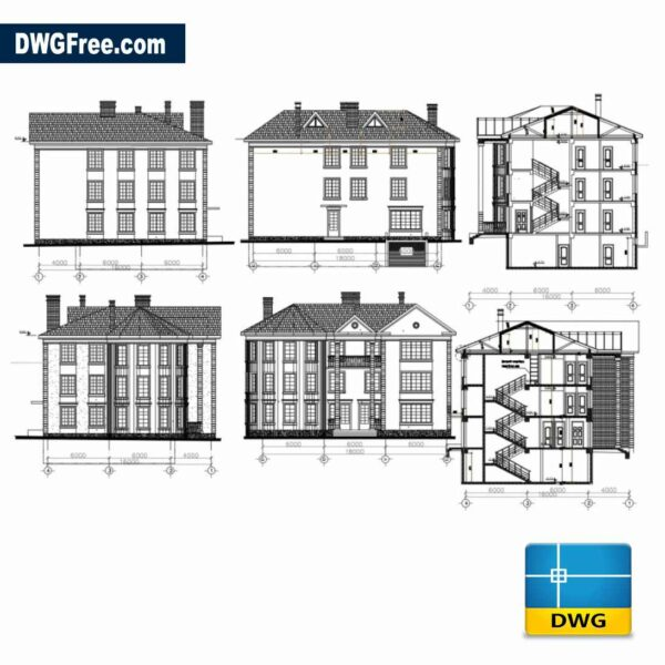House design drawing dwg CAD