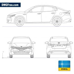 Kia Optima 2017 DWG in AutoCad