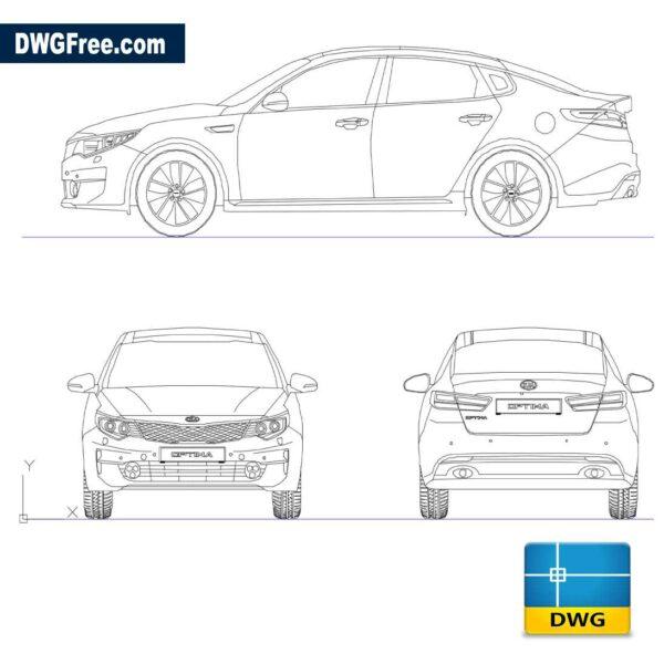 Kia Optima 2017 DWG in AutoCad