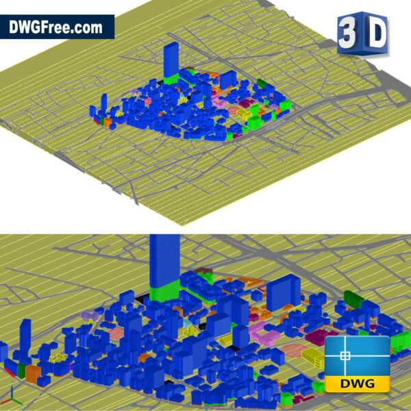 Beirut City (Lebanon) Achrafieh 3D DWG in AutoCAD
