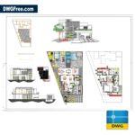 Cad blocks Modern Two-level Detached House Download