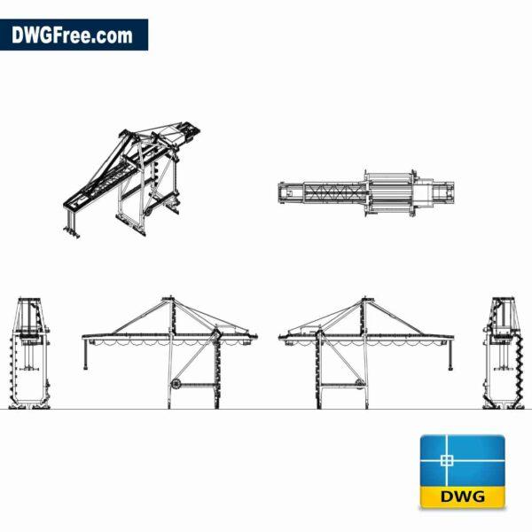 Port crane mhi 2D Drawing CAD