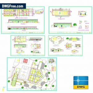 Sanitary Services for Hostel Dwg in Autocad 2D