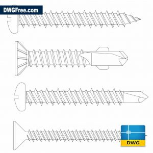 Drawing Screws DWG in Autocad