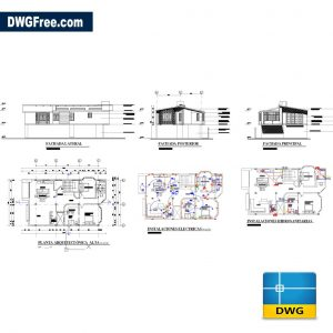 Second Floor Extension House 150m2 DWG in AutoCAD