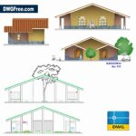Two bedrooms elevation dwg drawing CAD 2D
