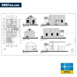 Wooden House DWG in AutoCAD