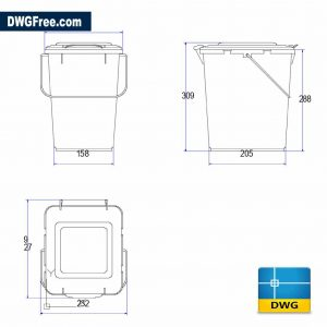 Drawing Dumpster 2D Dwg