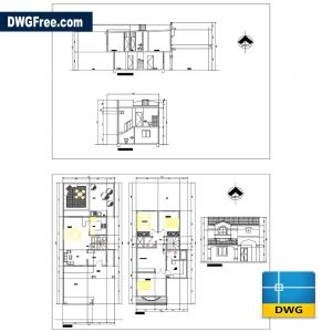 House Villa Bonita Hermosillo Dwg in AutoCAD