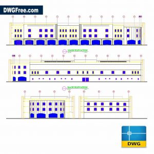 Plan With House Exterior Dwg in Autocad