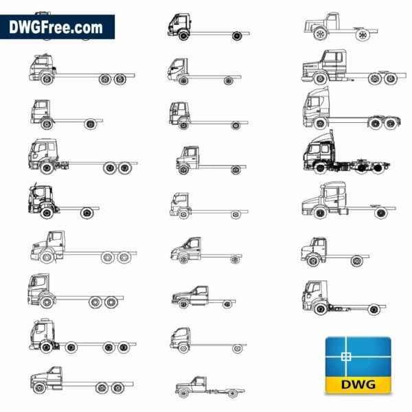Drawing Tow Truck collection DWG