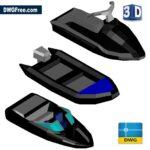 3D Boats Cad dwg drawing blocks