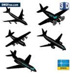3D Planes Cad blocks dwg