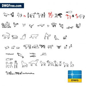 Animals Cad Blocks DWG drawing in CAD