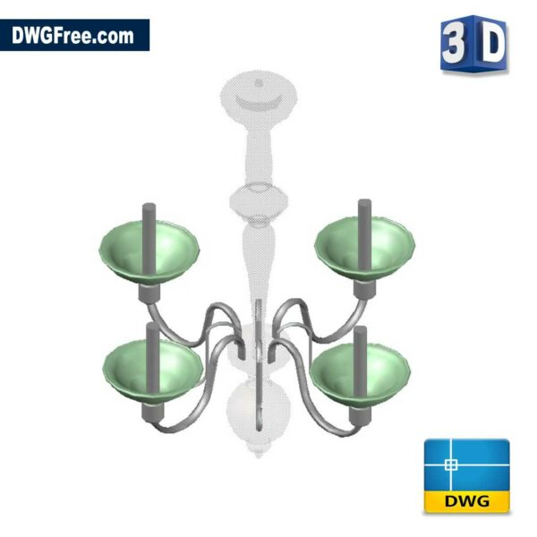 Candlestick 3D DWG drawing in CAD