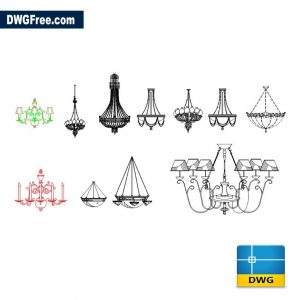 Chandelier Module DWG drawing in CAD