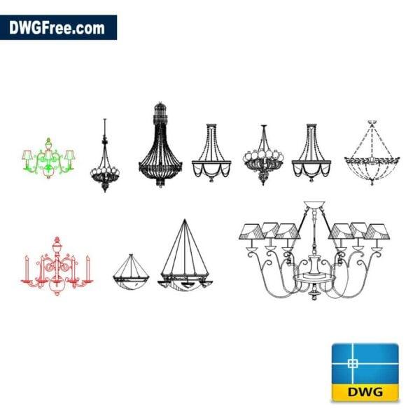 Chandelier Module dwg drawing in CAD