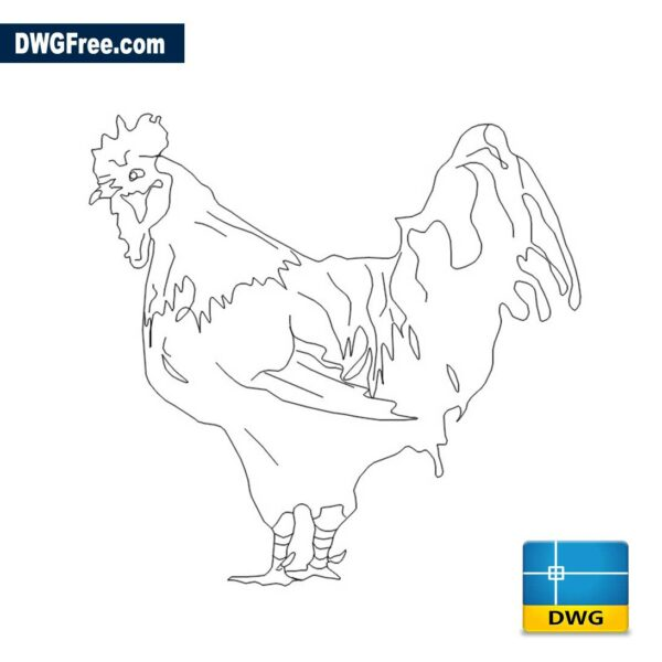 Chicken-elevation-dwg-drawing-2D