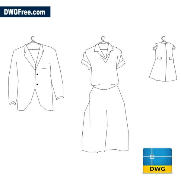 Clothes DWG in AutoCAD