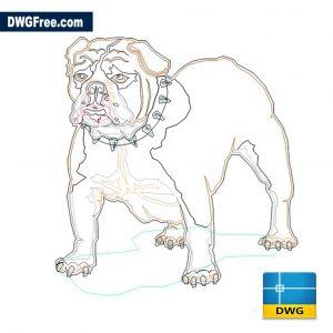 Dog Bulldog DWG