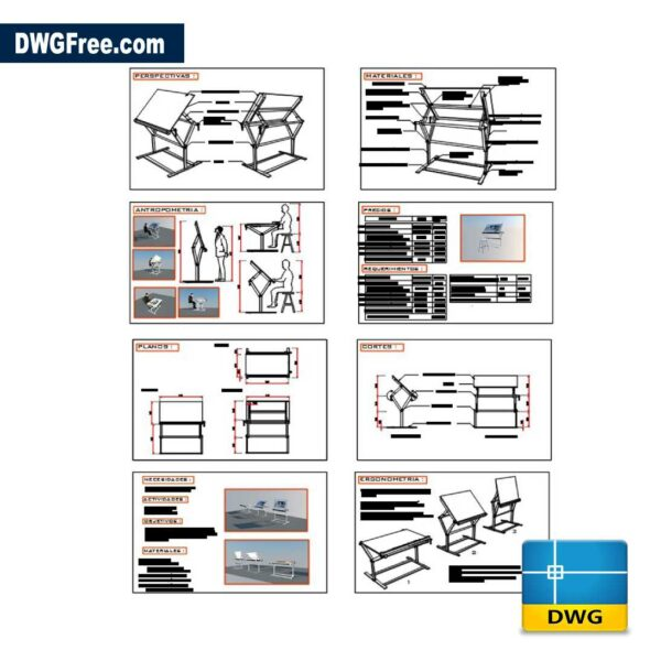 Drawing Board DWG in AutoCAD
