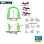 Equipment for parks dwg drawing in Autocad