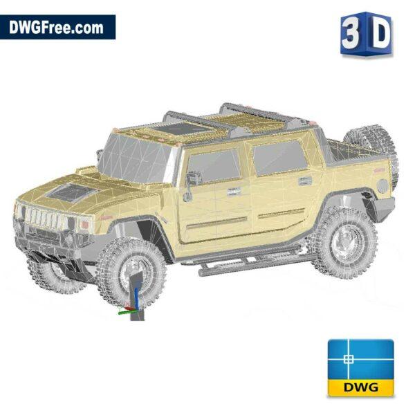 Hummer 3D dwg cad blocks